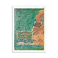 漫画オスマン帝国壁アートパネル抽象都市ポスターヴィンテージ風景写真モダンイラストキャンバス絵画インテリア北欧印刷モダンリビングルーム部屋装飾画