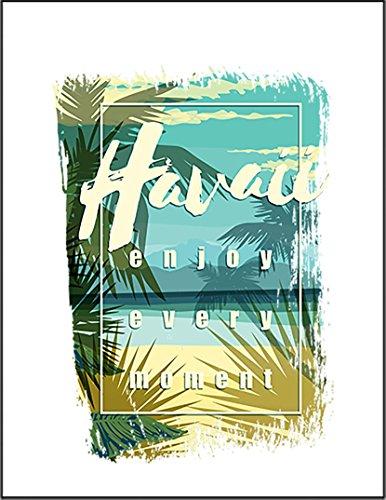 【FOX REPUBLIC】【ハワイ ビーチ すべての瞬間を楽しもう】 白光沢紙(フレーム無し)A4サイズ
