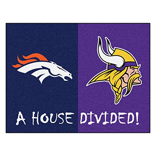 NFL House Divided - Broncos/Vikings Rug, 34