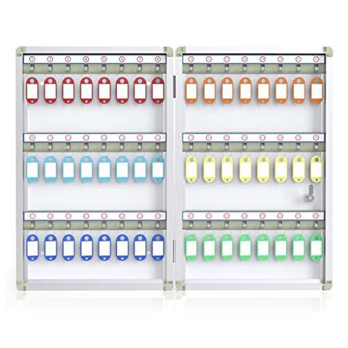 Gabinete Llaves Gabinete Llaves Metal para Oficina Caja Fuerte con Llave Inicio Soporte Caja Almacenamiento El Candado Seguridad Puede Contener 32-48 Llaves. Muebles
