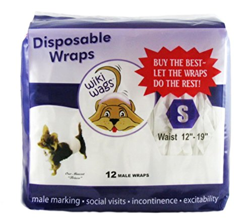Wiki Wags Male Dog Wrap, Small - 12 Count
