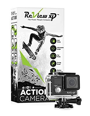 Review XP C600 4K Action Camera – Waterproof - Sony 12MP Sensor - Wi-Fi - 170° Angle - 4X Zoom Lens - Dual Screen - Ultra HD Sports DV Digital Camcorder – Bundle of 20+ Mounting Kits & Accessories from Review XP