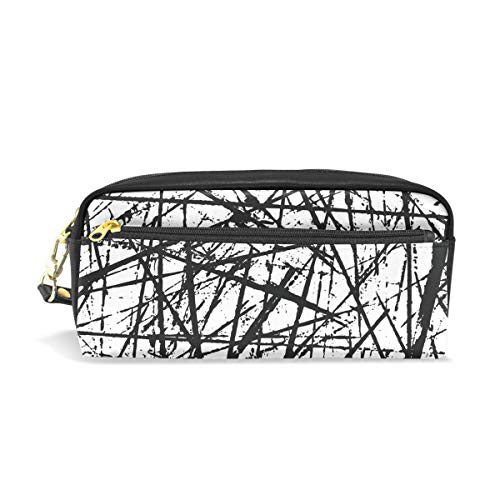 ISAOA Estuche de gran capacidad con cremallera para artículos de papelería Grunge Vector bolígrafo bolsa de maquillaje cosmético bolsa de regalo de Navidad para niñas y niños