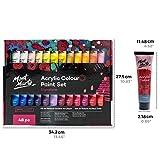 Mont Marte Acrylfarben Set Premium – 48 Stück, 36ml Tuben – Ideal für Acrylmalerei – Brillante Lichtechte Farben mit großer Deckkraft – Perfekt geeignet für Anfänger, Profis und Künstler - 4