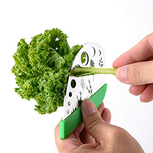 Herb Stripper, Leaf Herb Stripper, Stainless Steel Kale and Herb Stripping Tool/Vegetable Leaf Remover/Separator, Kitchen Gadgets