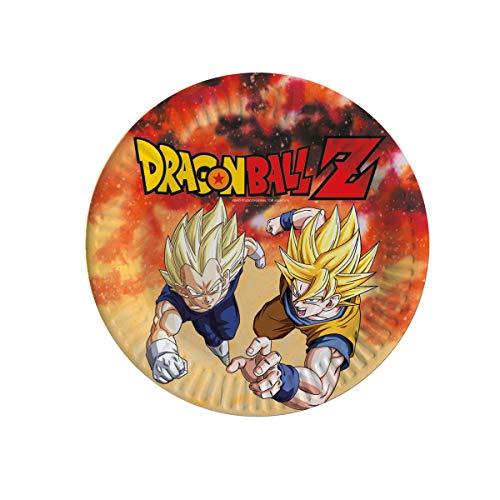 Comogiochi - Plato 23 cm Dragon Ball Z, multicolor, 5CG82007