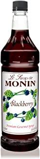 Monin - Blackberry Syrup, Soft and Succulent, Great for Cocktails, Lemonades, and Sodas, Gluten-Free, Vegan, Non-GMO (1 Li...