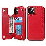 Compatible pour iPhone 12 Pro Max étui, étui portefeuille avec porte-carte en cuir PU 3 fente pour...