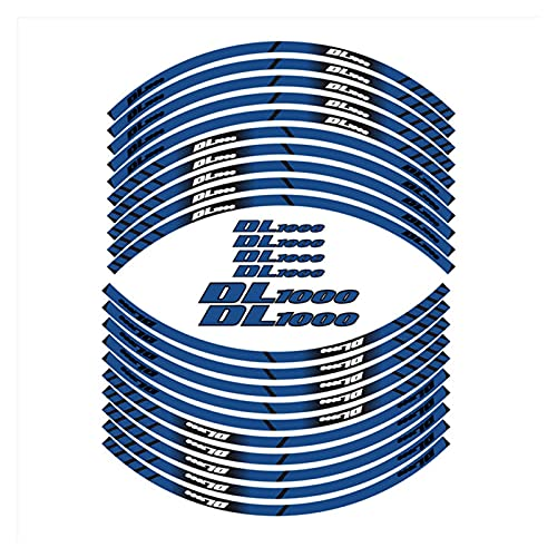 wjyfexble Pegatinas de Ruedas de Motocicleta Pegatinas de neumáticos de la Rueda Pegatinas de Llantas Reflectantes Impermeables calcomanías compatibles con Suzuki DL1000 WYJHN (Color : 180212)