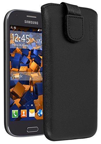 mumbi ECHT Ledertasche für Samsung Galaxy Ace 4 Tasche Leder Etui (Lasche mit Rückzugfunktion Ausziehhilfe)