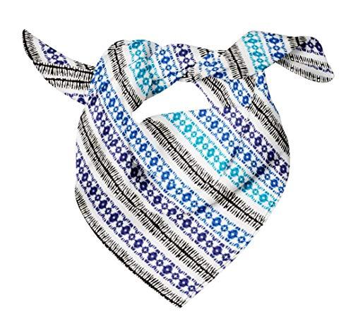 Bimba Blau shibori tie-Farbstoff reiner Seide bedruckter Schal Dupatta Head Neck Wrap Bandanas für Frauen 40 x 40 Zoll