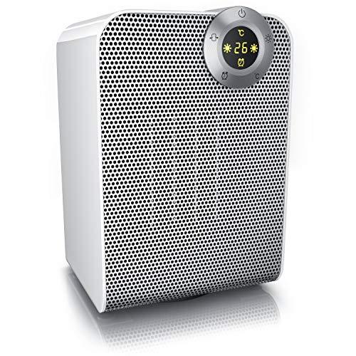 Brandson - Calefactor cerámicos con 2 Niveles de Potencia + Termostato | 1800 W Triple Protección | Función Ventilador | Silencioso (47 DBA) | Certificado GS