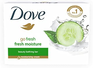 Dove Go Fresh Moisture Bathing Bar, With Moisturising Cream For Soft, Smooth And Glowing Skin,75 g
