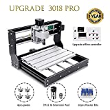 3018 Pro CNC Router Kit, Upgraded 3 Axis Engraver With Offline Feature Used As GRBL Control DIY Mini CNC Machine For Plastic Acrylic PVC Wood Carving And Milling (3018 PRO)