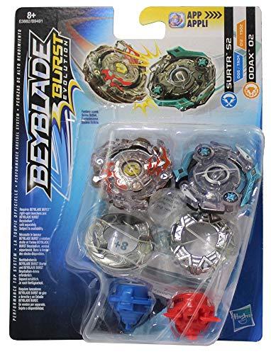 Beyblade Hasbro Burst Let it Rip! Kreisel 2er Set Dual Pack, für Kinder, Jungen und Mädchen (Subtr S2 & Odax O2)