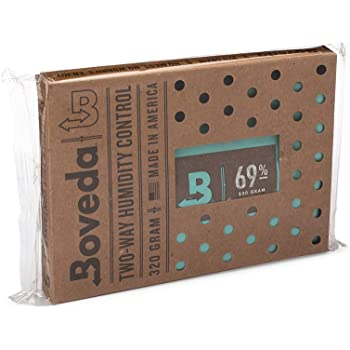 Boveda for Cigars/Tobacco | 69% RH 2-Way Humidity Control | Size 320 for Use with Up to 100 Cigars | Patented Technology For Cigar Humidors | 1-Count