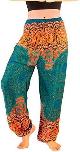 RAISINGTOP Unisex Thai Harem Trousers Palazzo Pants Liturgical Boho Festival Hippy High Waist product image