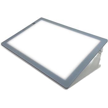 トライテック A3 LED 薄型トレビュアー 薄型8mm 10段階調光 トレース台 (3段階傾斜) A3-400