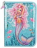 Depesche Lyra Fantasy Model Mermaid 11044 - Estuche XXL con lápices (28 x 20 x 4 cm), Color Azul