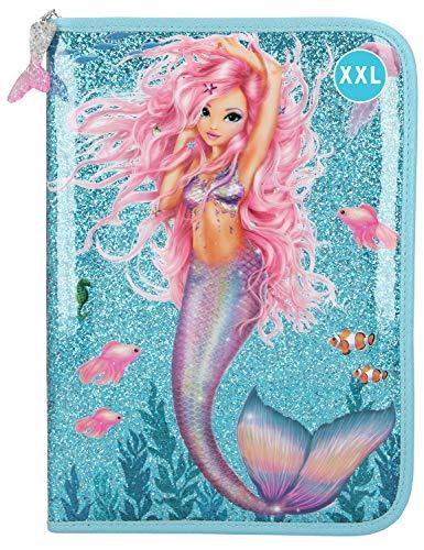 Depesche 11044 Federtasche XXL mit Stiften von Lyra, Fantasy Model Mermaid, blau, ca. 28 x 20 x 4 cm