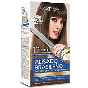 KATIVA KIT ALISADO BRASILEÑO CABELLOS OSCUROS - Lo mejor de nuestros alisados para cabellos oscuros - Alisado en casa para pelo teñido oscuro - Hasta 12 semanas de duración