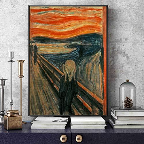 Santangtang canvas-kunstwerkreplica-samenvatting, klassieke schrijftaffiche uitgangdecoratie van de beroemde schilder beroemde frameloze