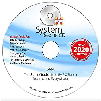 System Rescue CD System Recovery Disk for Win 10 8.1 8 7 *Vista* XP and Linux System Recovery Disk Repair Rescue And Recovery Software