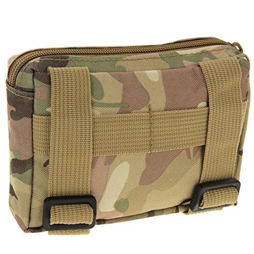 Robuste Armée Style Zipper Sac Ceinture pour les activités en extérieur camouflage, Waldtarn