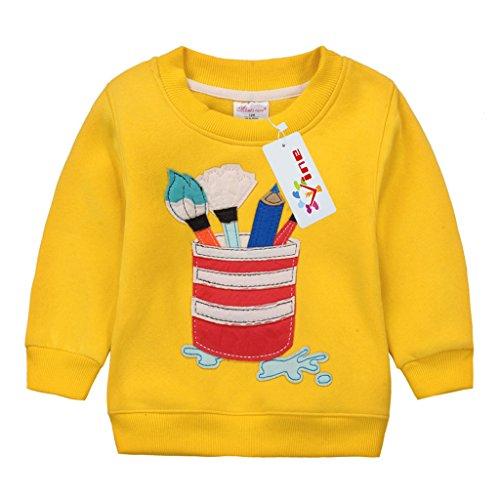 Sudaderas para Niños Navidad ciervos Bebé Camisetas de Manga Larga Niñas Sweatshirt Tops Vine 4 años