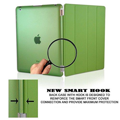 KHOMO Dual CASE Green Cover Front + Green Crystal Back Protector for Apple iPad 2, iPad 3 & iPad 4 (The New iPad HD) Photo #5
