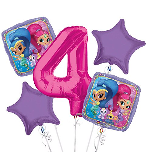 Shimmer and Shine Balloon Bouquet 4…