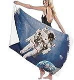 Toalla De Playa,Toalla De Playa Cuadrada Multifuncional Manta De Playa Extragrande De Astronauta para Adultos Y Niños, Súper Suave Y Absorbente Rápido