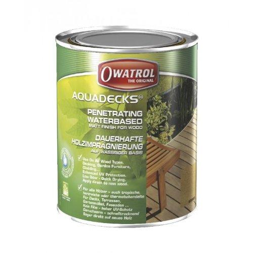 Owatrol-AQUADECKS- Lösemittelfreier Holzschutz, miel , Gebindegrösse 1 Liter