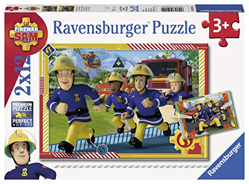 Ravensburger 50154 Puzzel Brandweerman Sam En Zijn Team - Twee Puzzels - 12 Stukjes - Kinderpuzzel