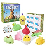 xinge Easter Mochi Squishy 9 Days Countdown Advent Calendar Including 9 Big Cute Mochi Animal Squishies Toys Mochi Stress Reliever Anxiety Toys for Easter Basket Stuffers Filler (Big Squishy-9pack-2)