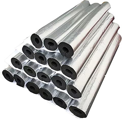 Espuma de aislamiento de tuberías Manguito de Tubo de Aislamiento Autoadhesivo de Papel de Aluminio Abierto, Algodón Del Aislamiento de La Tubería de Agua de PPR, Ignífu(Size: Inner 114mm,Color:18pcs)