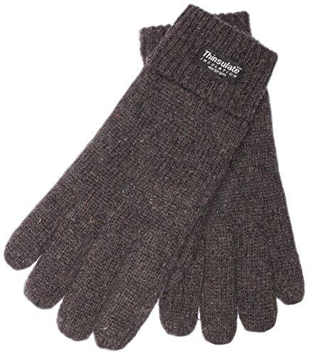 EEM Damen Strick Handschuhe JETTE mit Thinsulate Thermofutter aus Polyester, Strickmaterial aus 100% Wolle; anthrazit, S