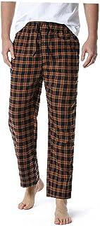 Men's Loose Sleep Bottoms Plaid Flannel Pants Bottoms Casual Pants Sleepwear Underwear S