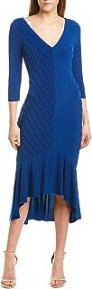 Women's Pintucked Jersey Flounce Dress