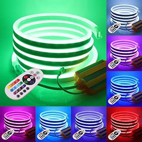 XUNATA 50m Flexible RGB LED Neon light + Control Remoto de 24...