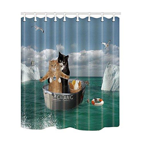 Kotom Duschvorhänge, aus wasserdichtem Stoff, Gardinen für Badezimmer, ca.175,3cmx177,8cm, Polyester-Mischgewebe, Multi6, 69X70Inches