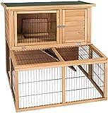 Conejo Jaula Pequeña casa de animales es adecuada para conejos, roedores o...