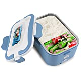 CHICIRIS Zouminyy Fiambrera eléctrica para automóvil, Fiambrera portátil para calefacción eléctrica para automóvil 1.5L Bento Contenedor calentador de alimentos para viajar(24V-Azul)
