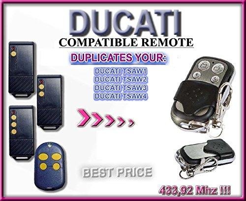 DUCATI TSAW1 / TSAW2 / TSAW3 / TSAW4 kompatibel handsender, klone fernbedienung, 4-kanal 433,92Mhz fixed code. Top Qualität Kopiergerät!!!
