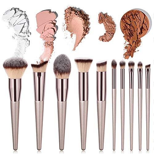 Brosse de maquillage Set Maquillage professionnel brosses rose or maquillage Foundation Blush Concelaer Contouring Ombre à Paupières Kits Brush - 10PCS Cosmétiques Set Brosses