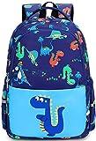 Toddler Backpack for Boys Little Kids Elementary Preschool Backpack kindergarten dinosaur School Book Bags with Chest Strap (Dinosaur Light Blue)