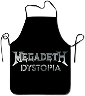 Unisex Dystopia Album Megadeth Band Kitchen Cooking Grilling Apron Neck Straps Without Pockets Adjustable