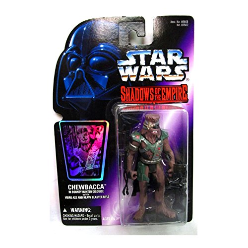 Star Wars - Shadows of the Empire - Holo Carte - Chewbacca - in Bounty Hunter Disguise - avec Vibro Axe et Heavy Blaster Rifle - env. 3 3/4\