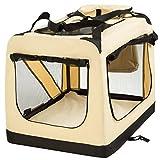 "TecTake Faltbare Hundetransportbox Transportbox beige 69x50x52cm ""L"" - 3"