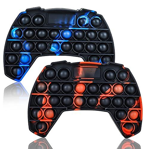 GUBOOM Pop it Fidget Toys, Push Pop Bubble, Silicona Sensorial Fidget Juguete,Sensorial Herramientas para Aliviar el Estrés y la Ansiedad Juguetes Educativos para Niños y Adultos(2PCS)